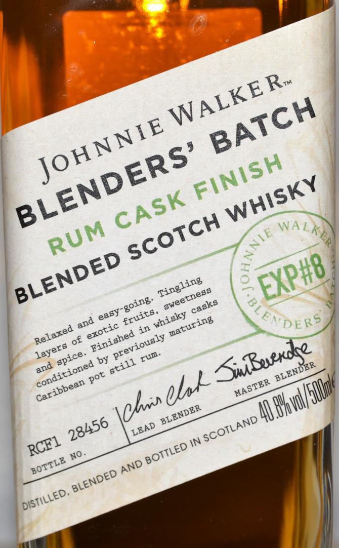 Johnnie Walker Blenders' Batch EXP#8 - Rum Cask Finish