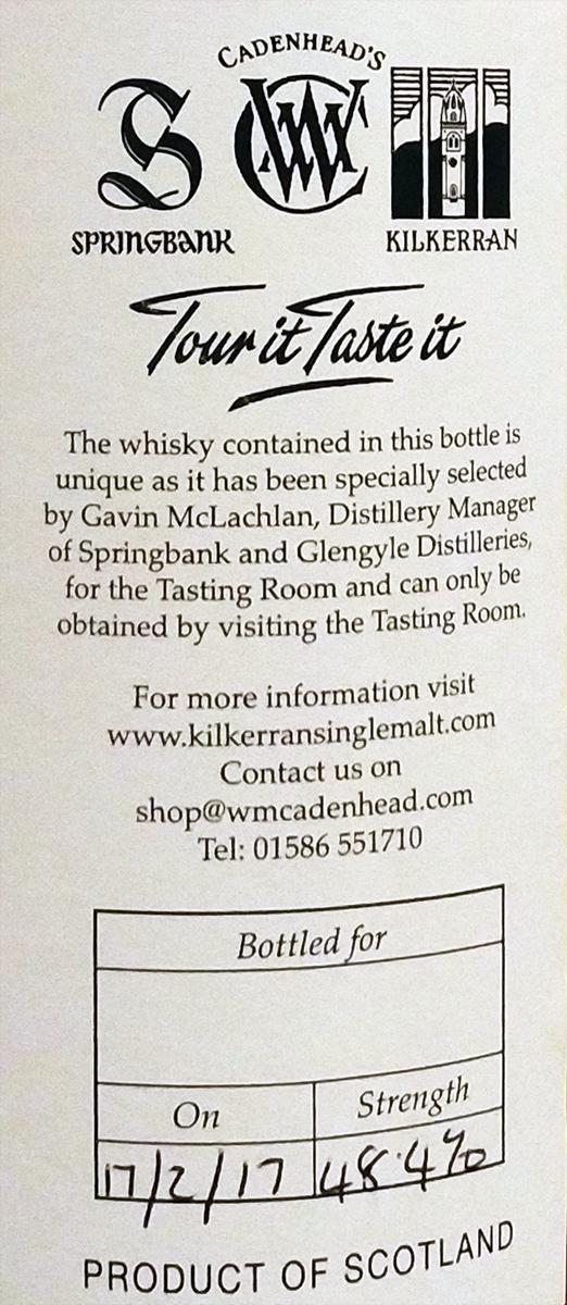 Kilkerran The Tasting Room