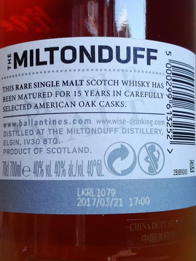 Miltonduff 15-year-old