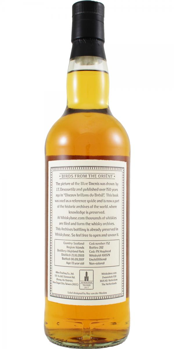 Highland Park 2003 Arc - Ratings and reviews - Whiskybase