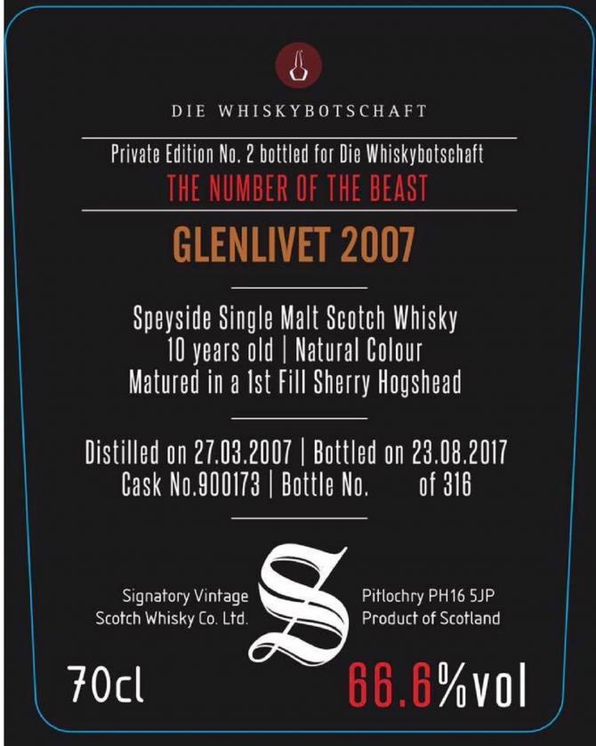 Glenlivet 2007 SV