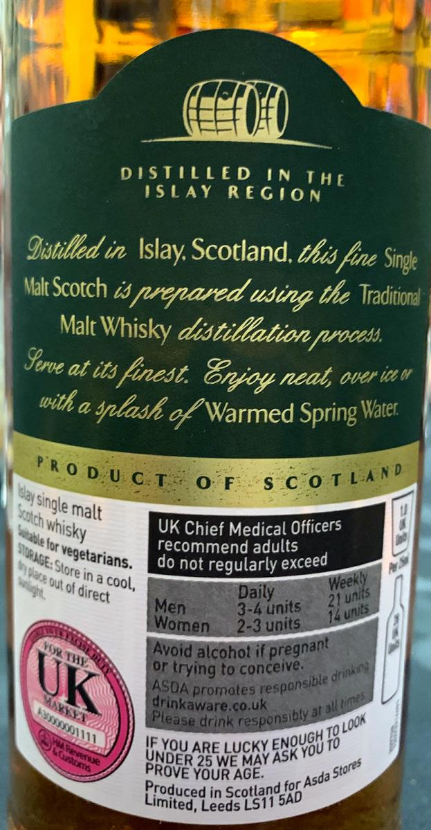 ASDA Extra Special Islay Single Malt Scotch Whisky