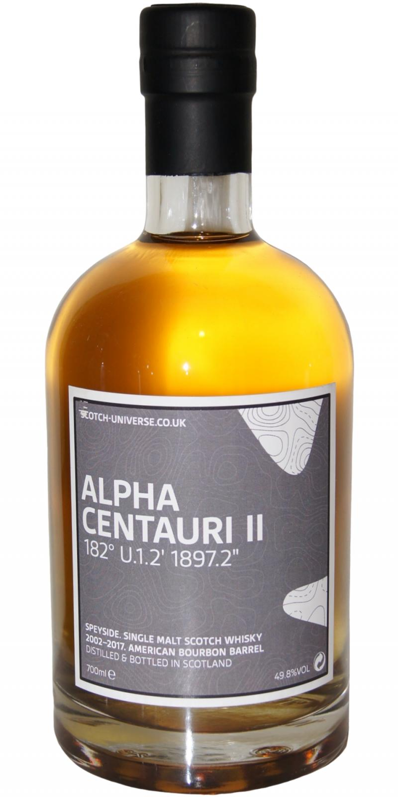 Scotch Universe Alpha Centauri II - 182° U.1.2' 1897.2""