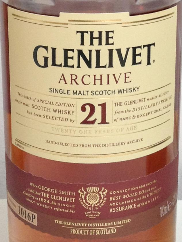 Glenlivet 21-year-old