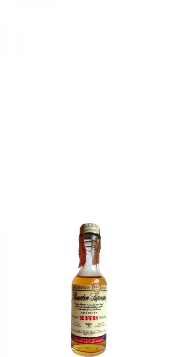 Bourbon Supreme American Straight Bourbon Whiskey