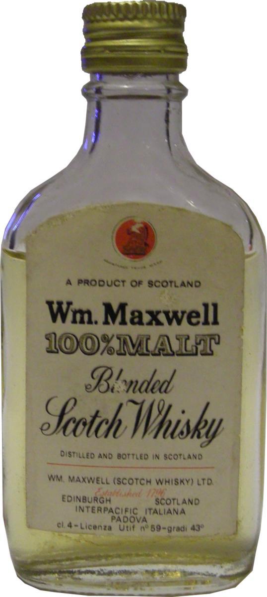Wm. Maxwell 100% Malt WmMx
