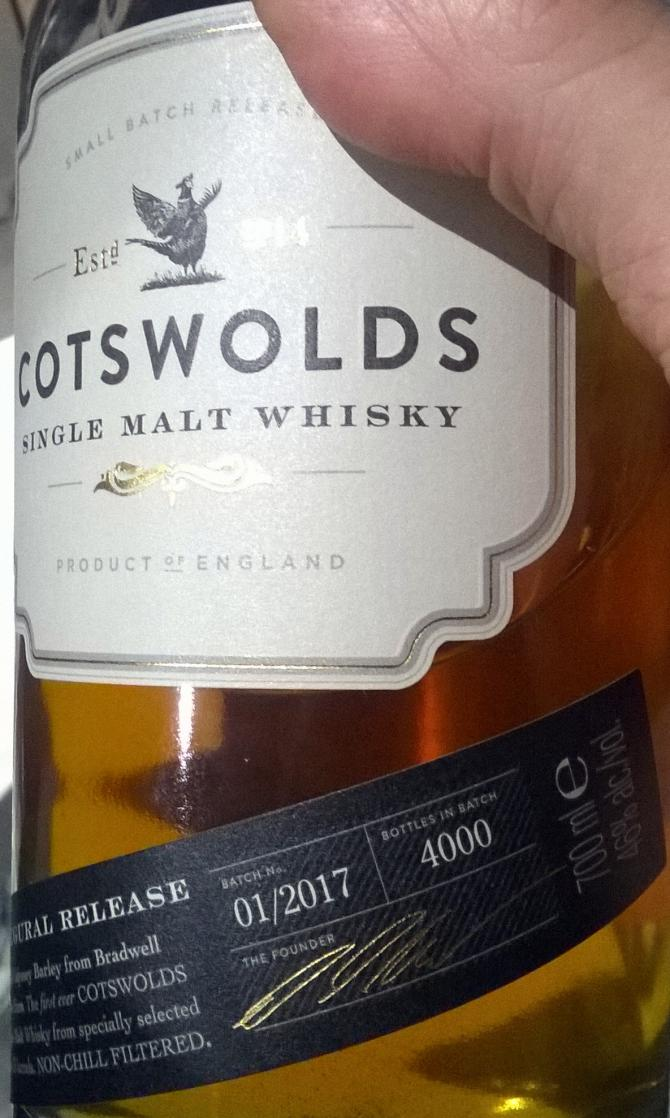 Cotswolds Distillery 2014 - Inaugural Release