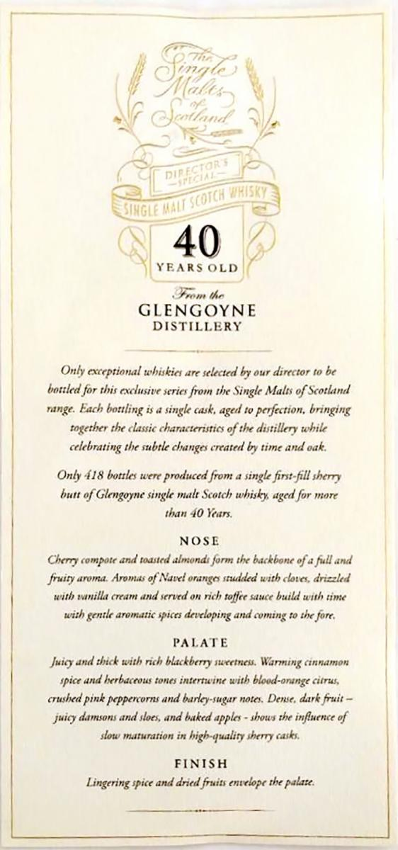 Glengoyne 40-year-old ElD Director's Special