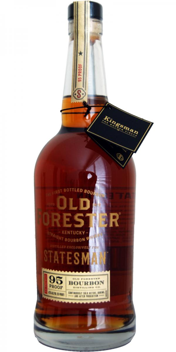 Old Forester Statesman Kentucky Bourbon Whiskey Recycled Bottle Table Top Tiki Torch