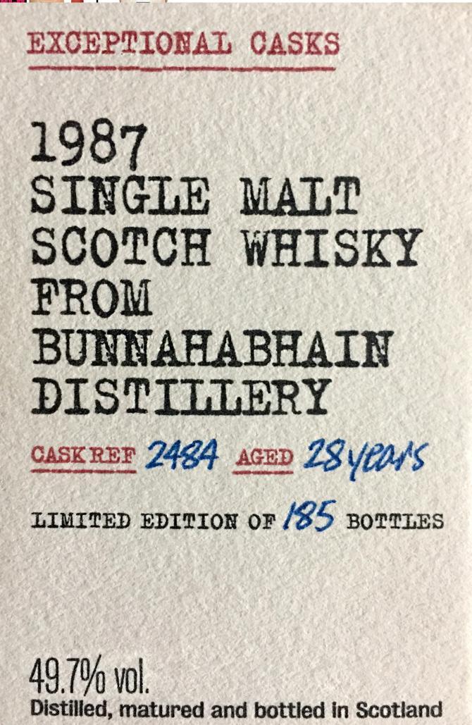 Bunnahabhain 1987 BR