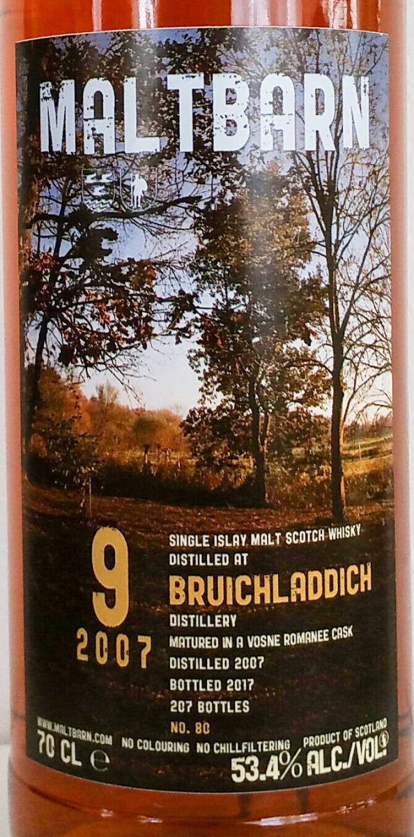 Bruichladdich 2007 MBa