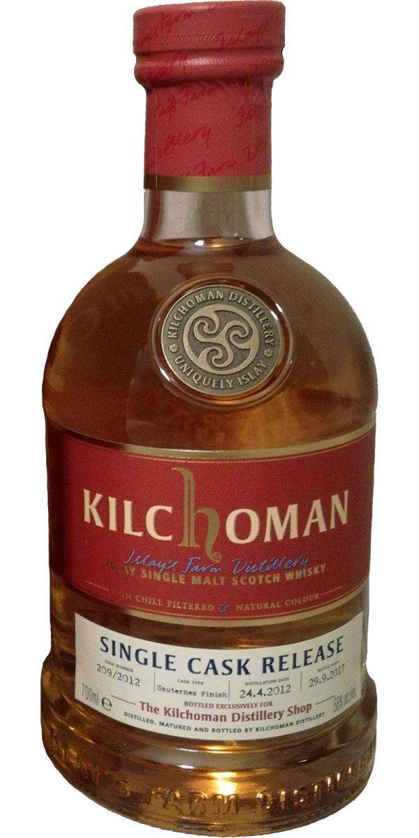 Kilchoman 2012 Single Cask Release