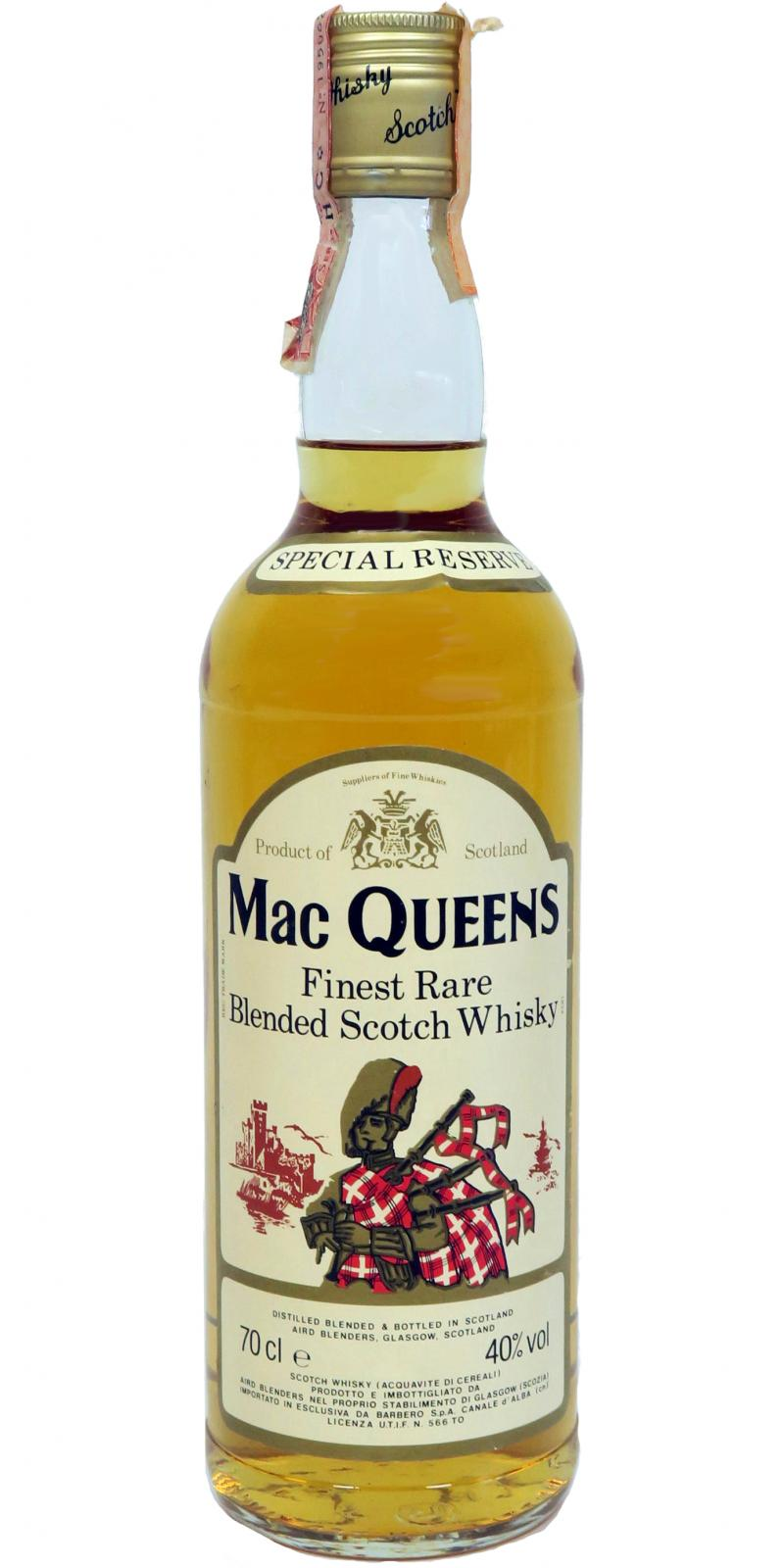 Mac Queens Finest Rare Blended Scotch Whisky
