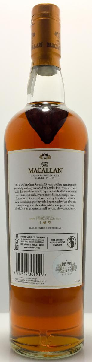 Macallan 15-year-old