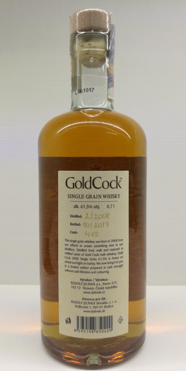 Gold Cock 2008 - Ratings and reviews - Whiskybase