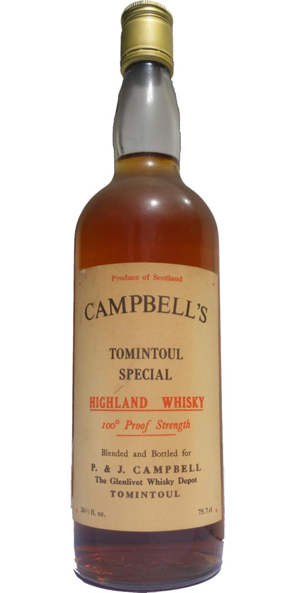 Campbell's Tomintoul Special