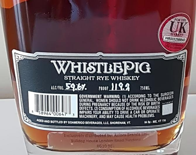 WhistlePig 14-year-old