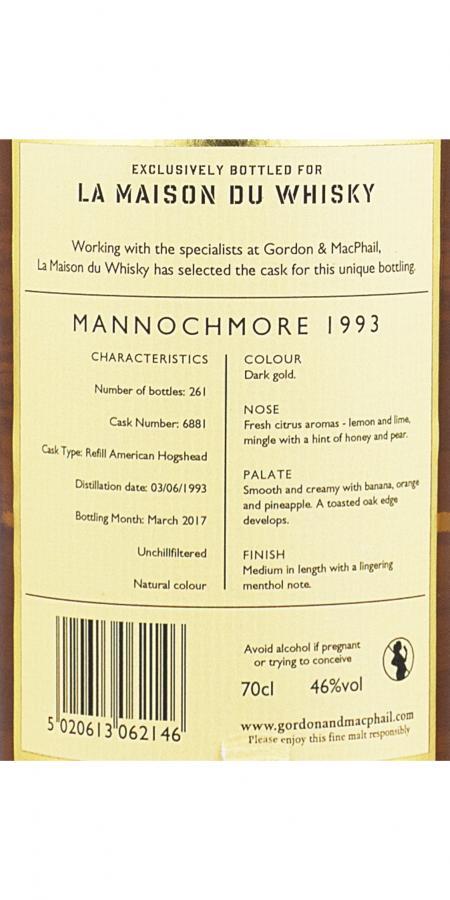 Mannochmore 1993 GM