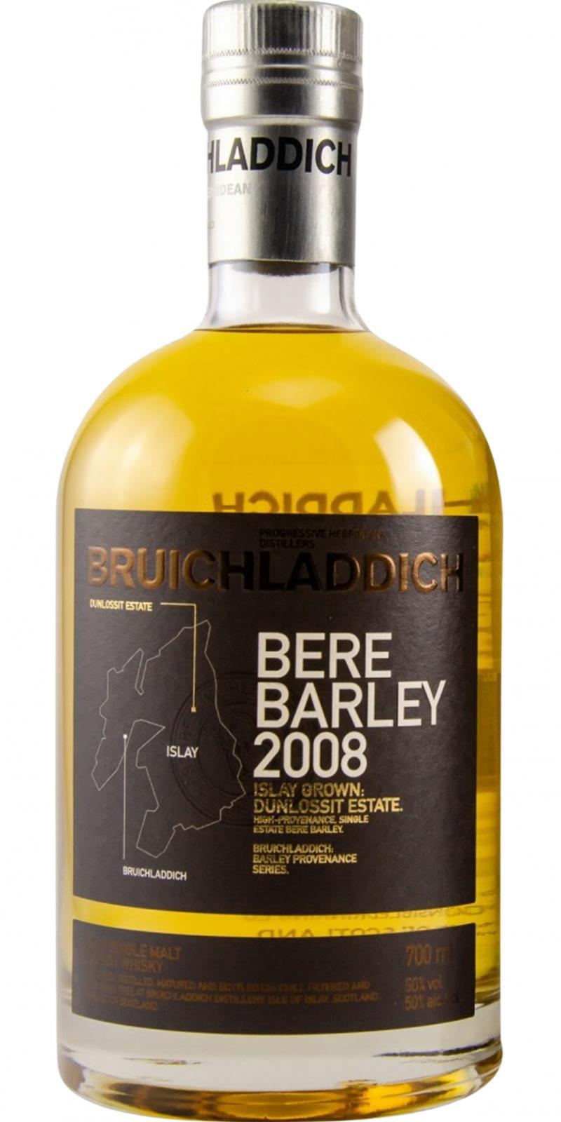 Bruichladdich 2008 - Bere Barley