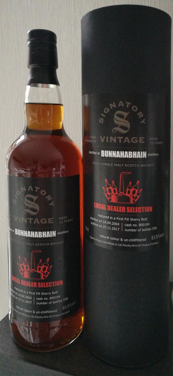 Bunnahabhain 2004 SV