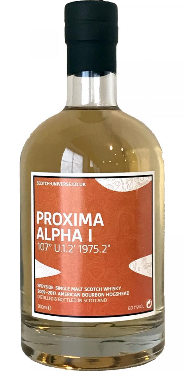 Scotch Universe Proxima Alpha I - 107° U.1.2' 1975.2''