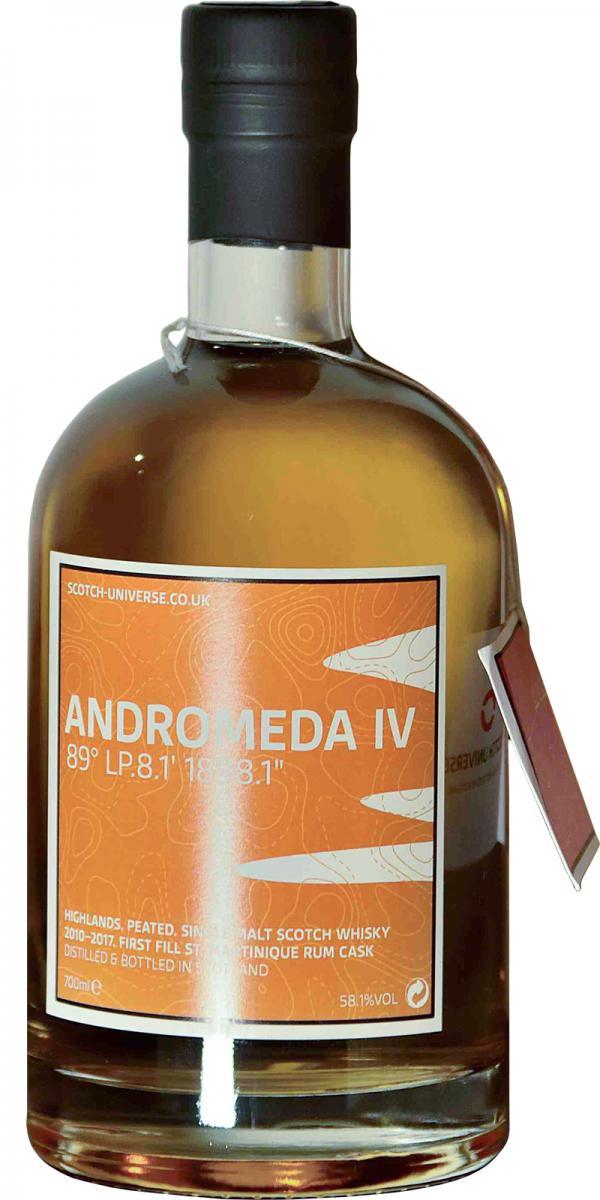 Scotch Universe Andromeda IV - 89° LP.8.1' 1898.1''