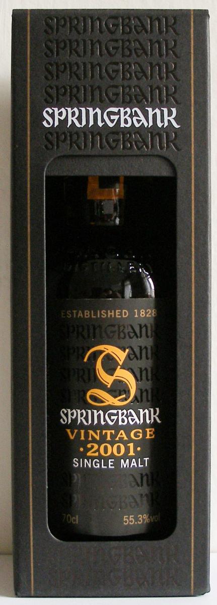 Springbank 2001