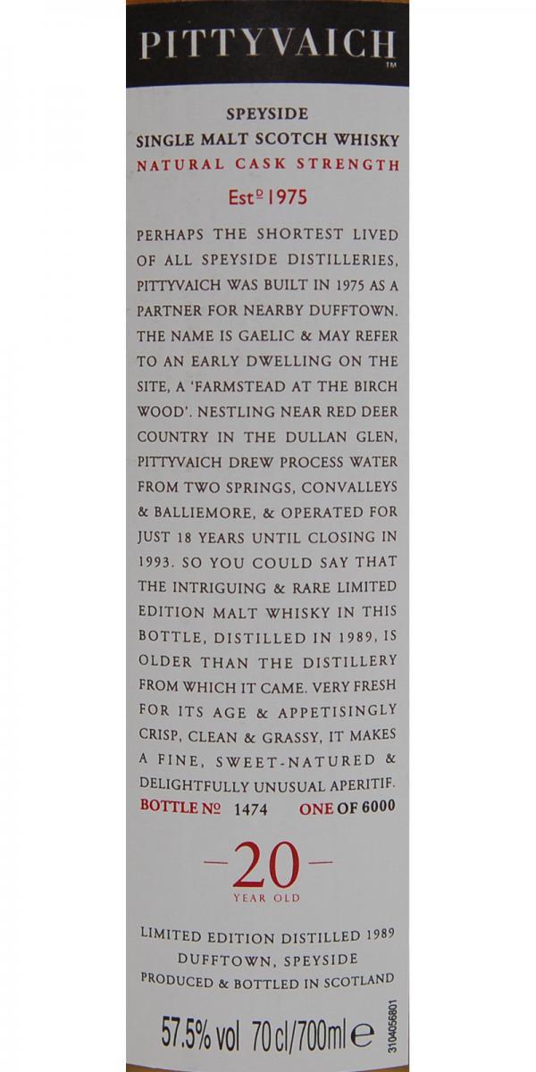 Pittyvaich 1989