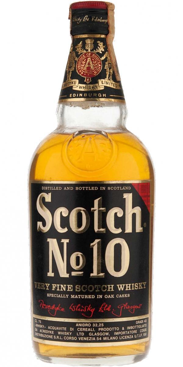 Scotch No. 10 Very Fine Scotch Whisky