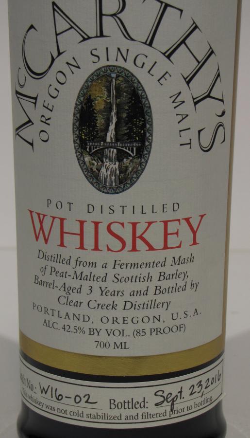 McCarthy's Oregon 03-year-old