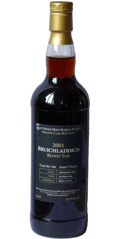 Bruichladdich 2001 Blood Tub