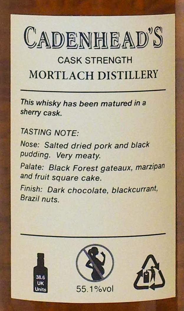 Mortlach 1988 CA
