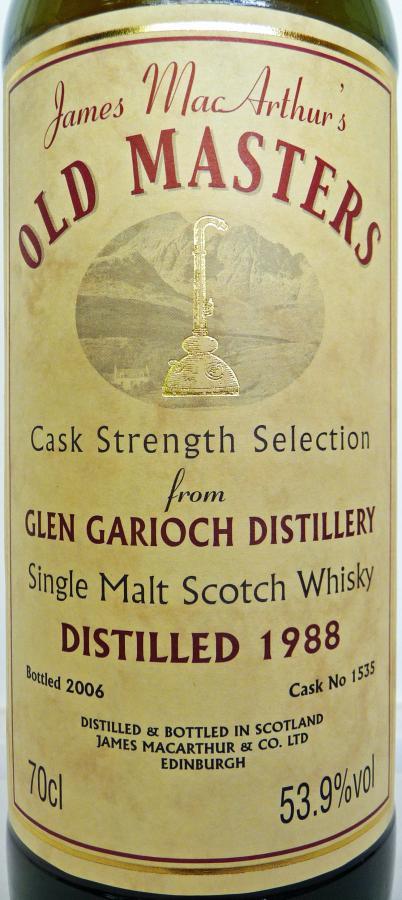 Glen Garioch 1988 JM