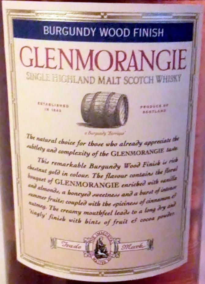 Glenmorangie Burgundy Wood Finish