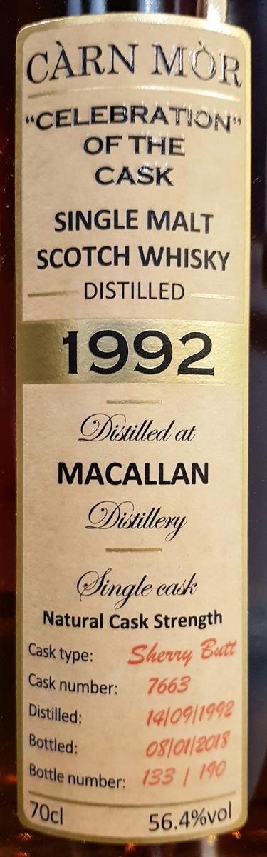 Macallan 1992 MMcK