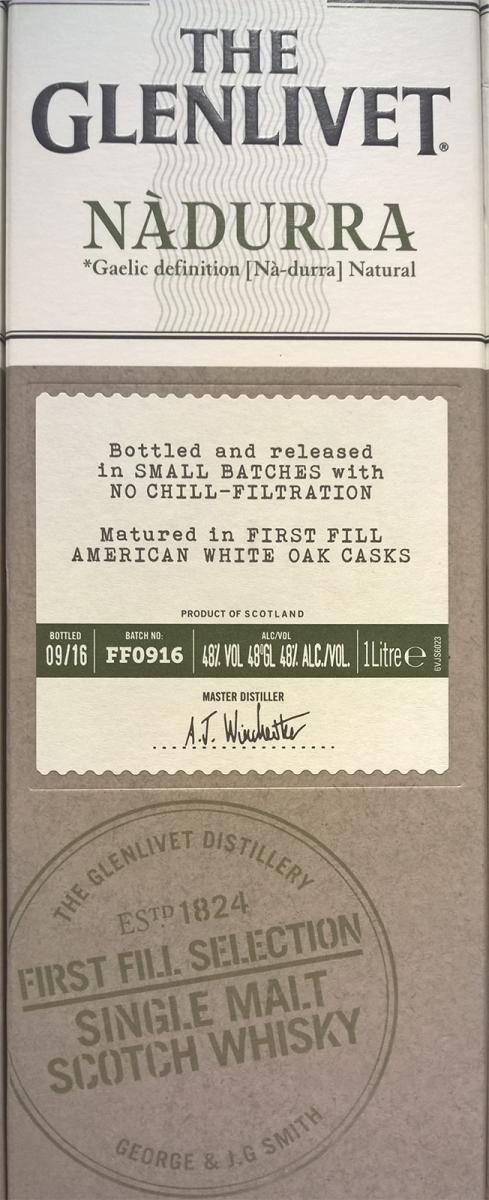 Glenlivet Nàdurra 1st Fill Selection