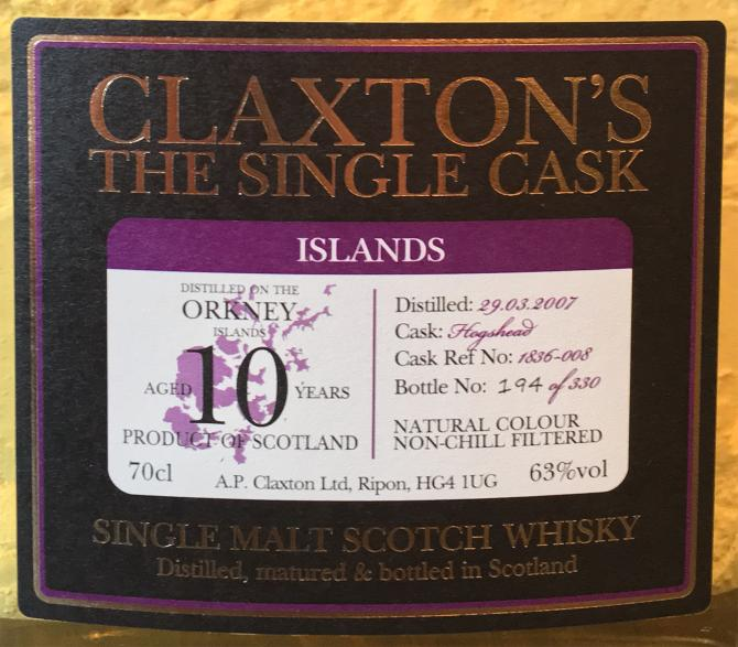 Orkney Single Malt 2007 Cl