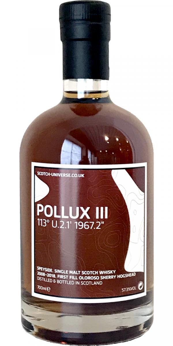 """Scotch Universe Pollux III - 113° U.2.1' 1967.2"""""""