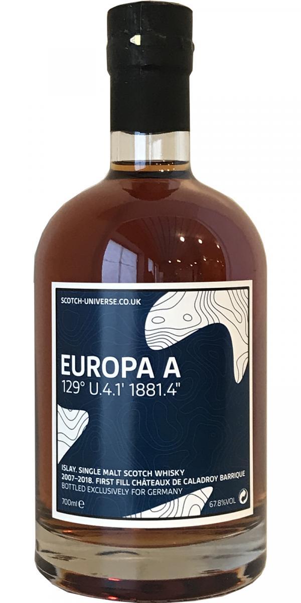 """Scotch Universe Europa A - 129° U.4.1' 1881.4"""""""