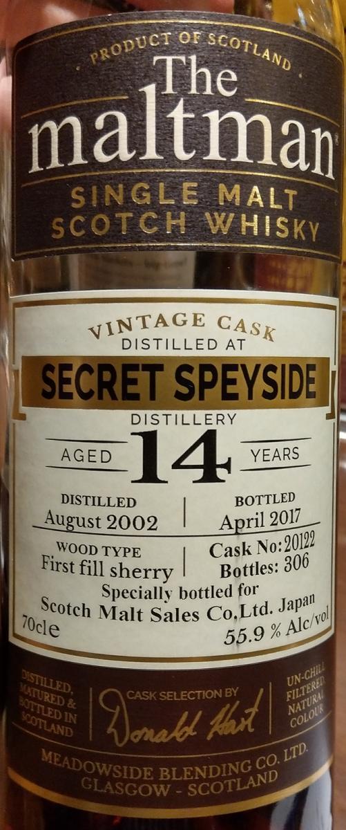 Secret Speyside Distillery 2002 MBl