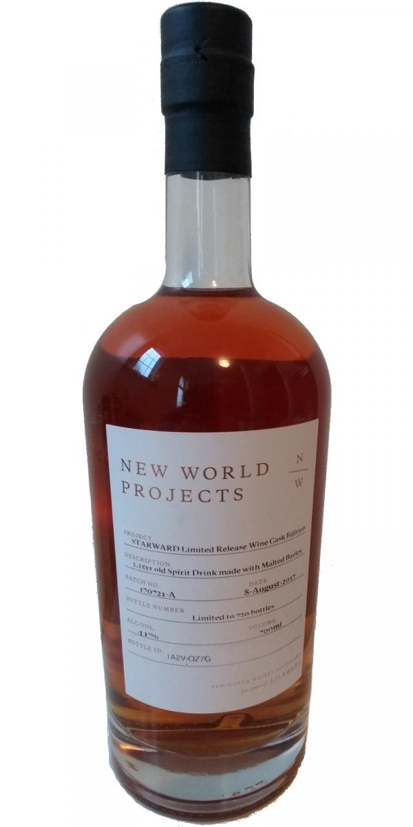 New World Projects Starward Limited Release Wine Cask Edition