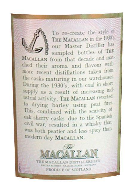 Macallan Travel Series 1930's
