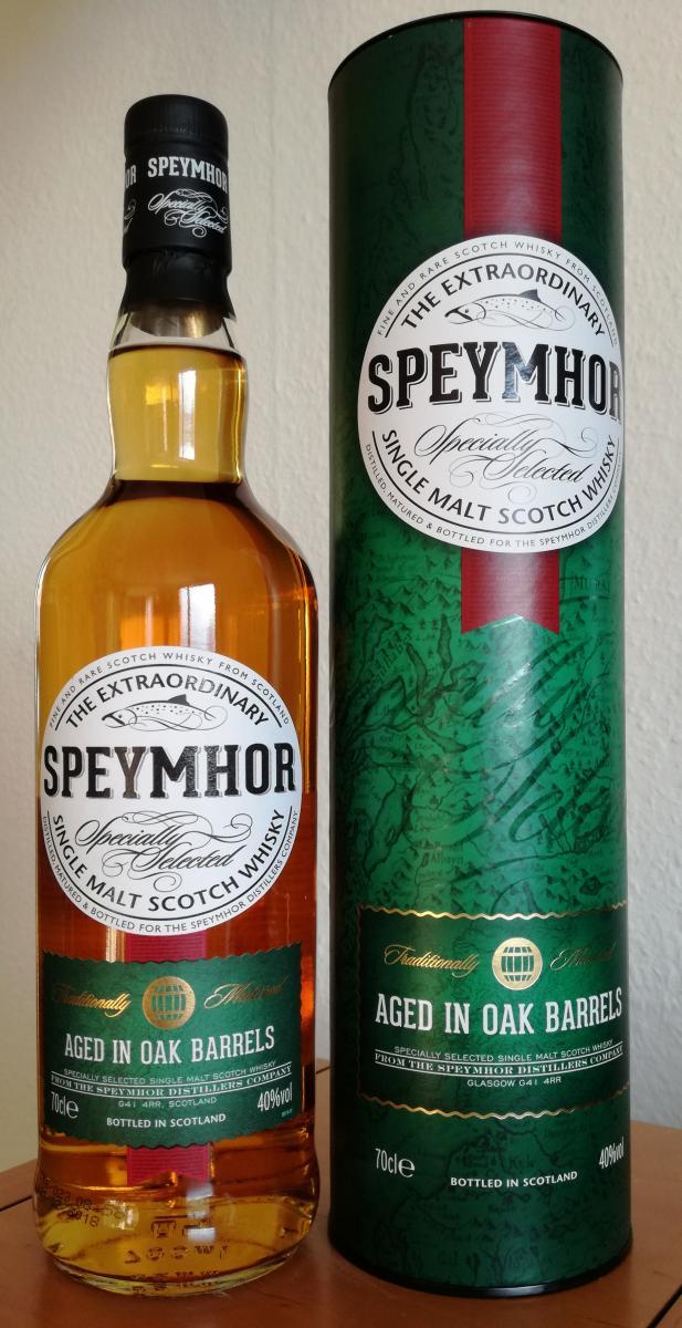 Whisky speymhor single malt scotch Spheymor