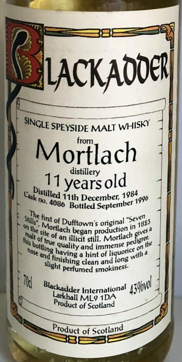 Mortlach 1984 BA