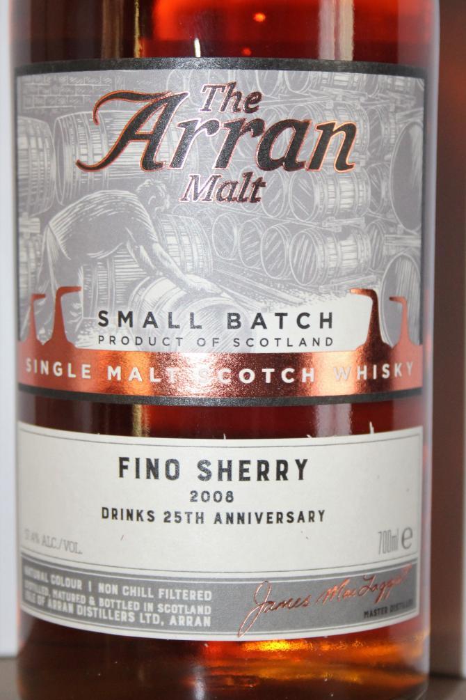 Arran 2008 - Fino Sherry