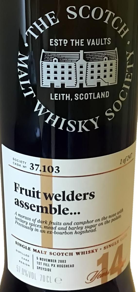 Cragganmore 2003 SMWS 37.103