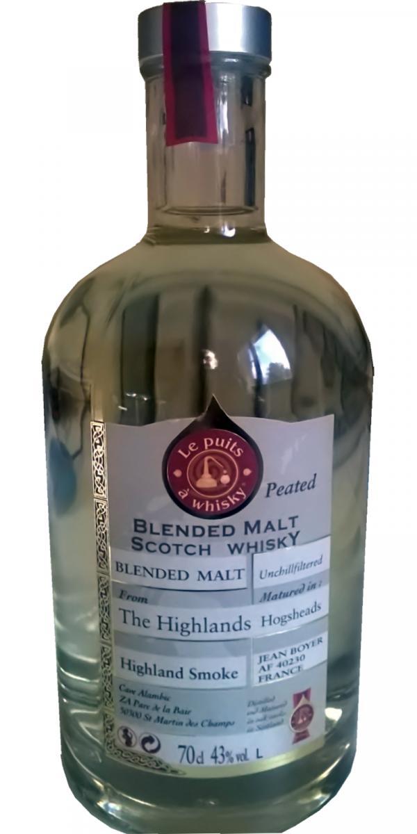 Blended Malt Scotch Whisky Highland Smoke JB