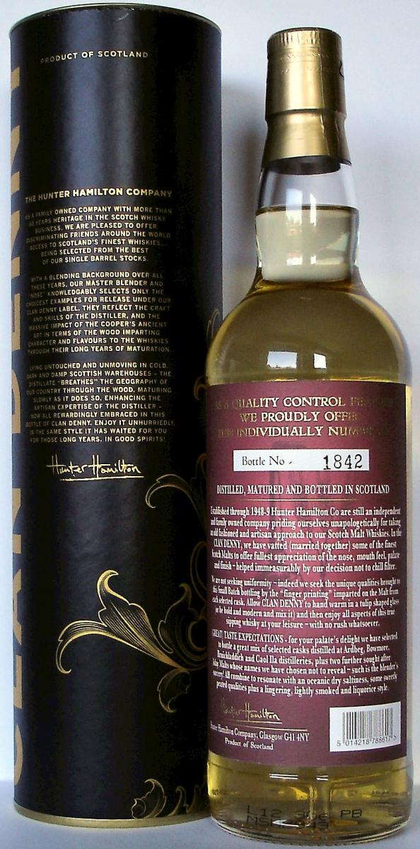 Clan Denny Blended Malt Scotch Whisky from Islay HH