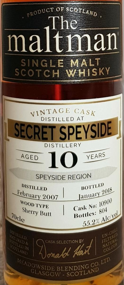 Secret Speyside Distillery 2007 MBl