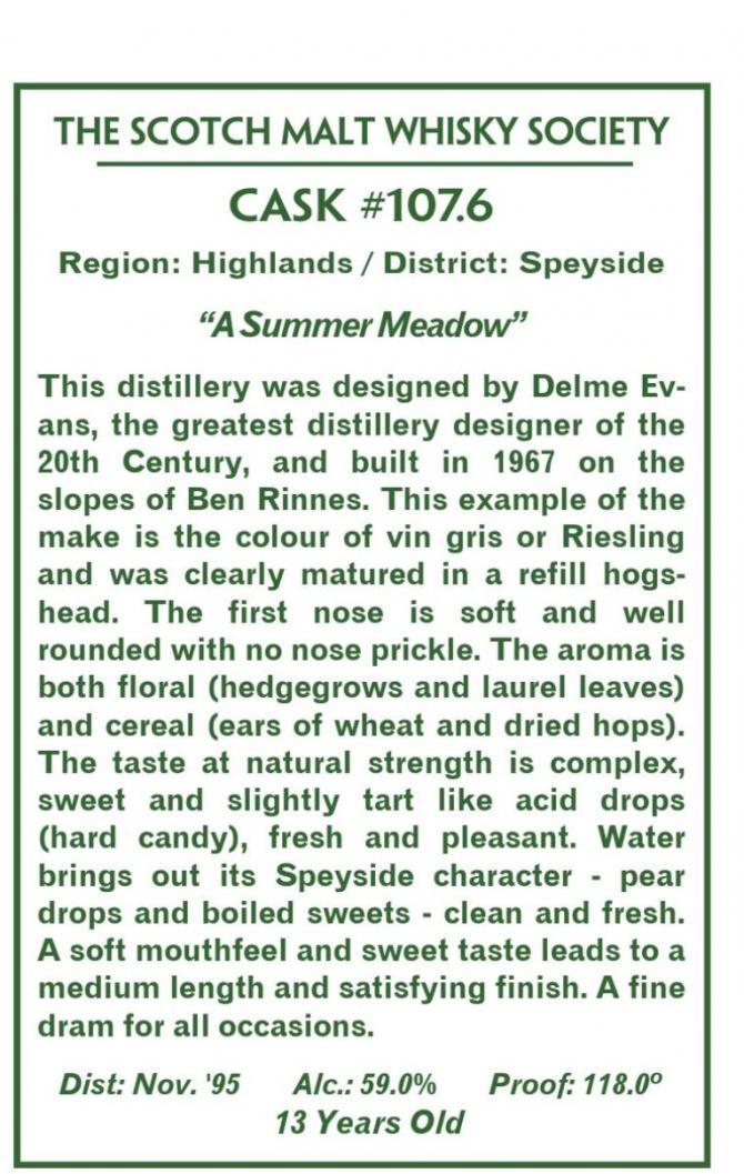 Glenallachie 1995 SMWS 107.6
